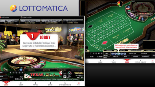 Demo tutorial di gioco interattiva del Casinò Vegas Club Lottomatica