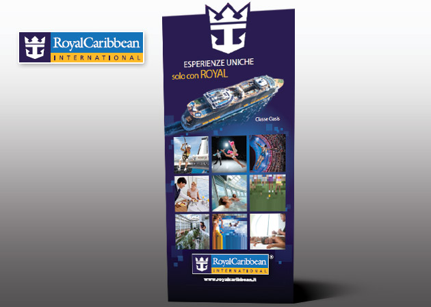 Stampa espositore Royal Caribbean materiale pop